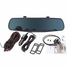 Estilo clásico Espejo Retrovisor Del Coche DVR HD 1080 P Dash Cámara de Doble Lente DVR Grabador de Vídeo Cam Vehículo Delantero Trasero