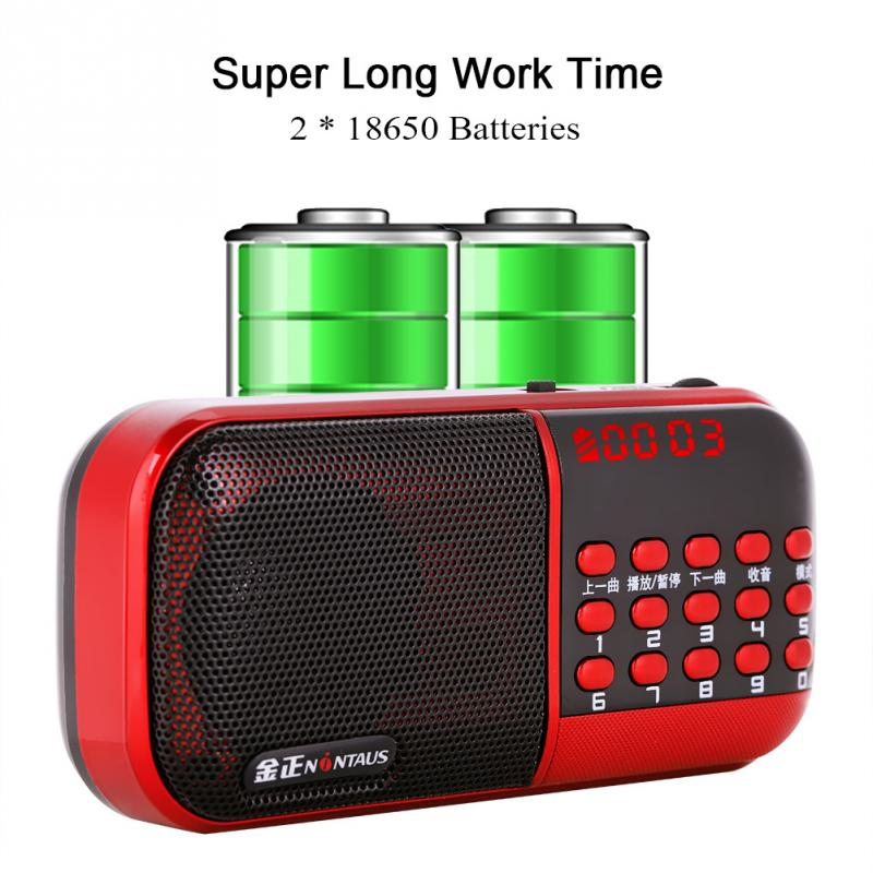 Tragbares Audio & Video Vbestlife Mini Tragbare Fm Radio Digital Lcd Display Panel Stereo Fm Radio Noise Cancelling Lautsprecher Unterstützung Usb Tf Mirco Sd Karte