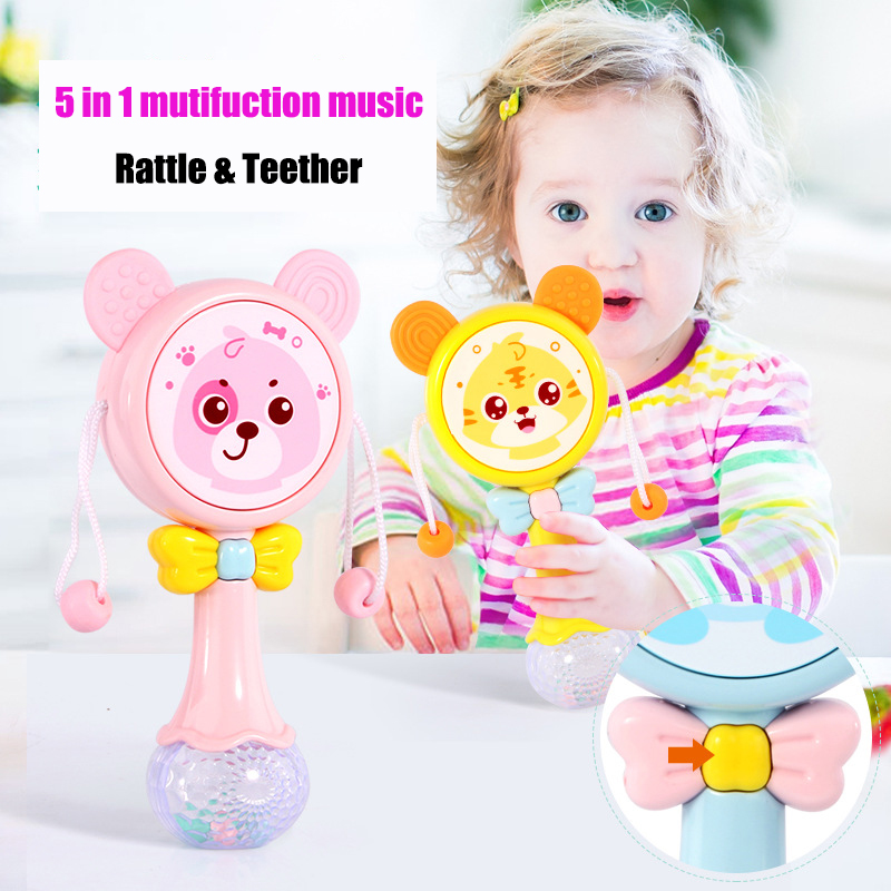 Muti-function Baby Rattles & Teether Kids Tumbler Doll Baby Toys Bell Music Learning Education Toys Gifts Baby Toys