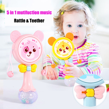 Купить с кэшбэком Muti-function Baby Rattles & Teether Kids Tumbler Doll Baby Toys Bell Music Learning Education Toys Gifts Baby Toys