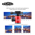 Rangers Camera Tripod Ball Head 360 Degree Photography Tripod Ball Head +Quick Release Plate For DSLR Camera Red RA097