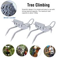 Outdoor Tree Climbing Tool Pole Climbing Spikes for Hunting Observation Picking Fruit Stainless Steel Climbing Tree Shoes