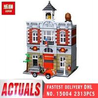 Lepin 15004 2313Pcs City Street Fire Brigade Architecture Model Set LegoINGly 10197 Building Bricks Blocks For