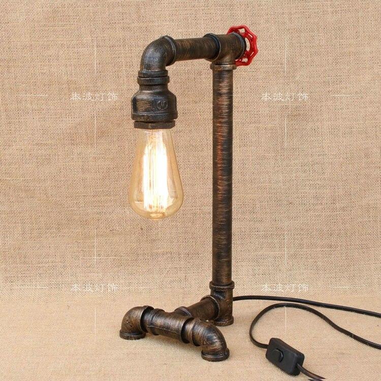 Водопроводные трубы настольные лампы Лофт простой ретро регистрации промышленных Ветер трубы творческая личность гостиной лампа Настольн...