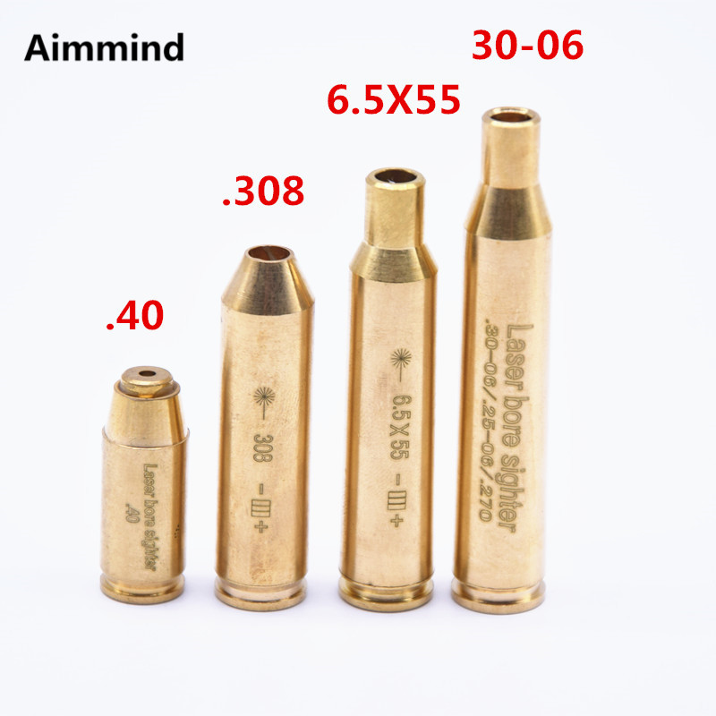Hunting Red Laser Boresighter CAL.308 .40.6.5x55,Cal.30-06 Cartridge Tactical Bore Sighter