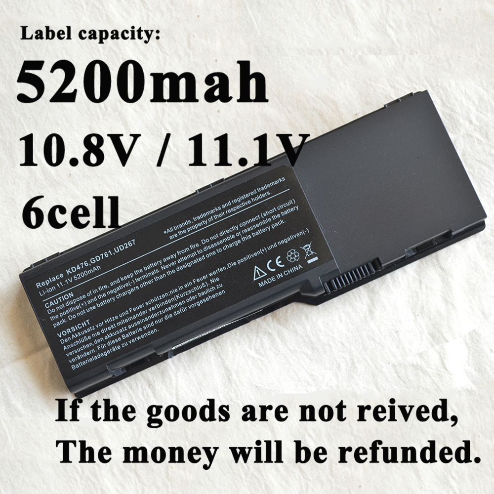Laptop <font><b>Battery</b></font> For <font><b>Dell</b></font> <font><b>Inspiron</b></font> <font><b>1501</b></font> 6400 E1505 PP20L PP23LA Latitude 131L XU937 UD267 RD859 GD761 312-0599 312-0600 451-10338 image