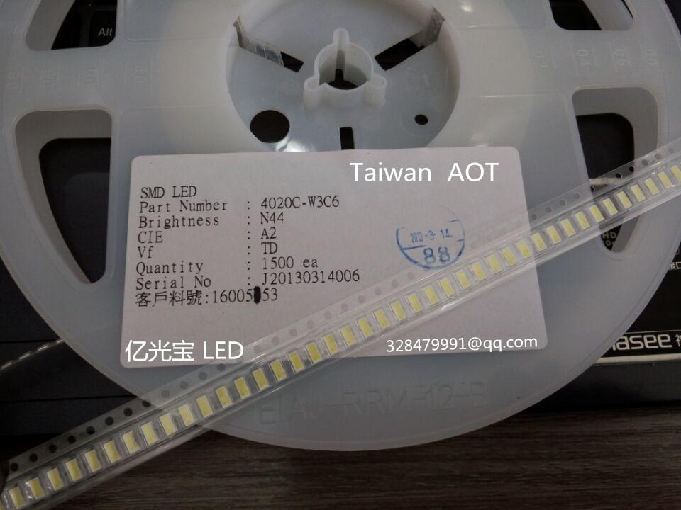 1000Pcs/lot GIO Optoelectronics LED Backlight High Power LED 1W 6V 4020 Cool white 80LM DPA42W0218AG0A/4020C-W3C6 TV Application
