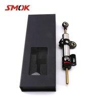 SMOK Universal Motorcycle Adjustable Steering Damper Stabilizer For Yamaha R15 V3 FZ16 R25 XJR 1300 MT 09 Tracer YZF R6 FZ6