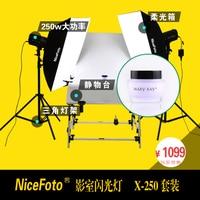NiceFoto studio flash 250w photography light set photography clothes portraitist set