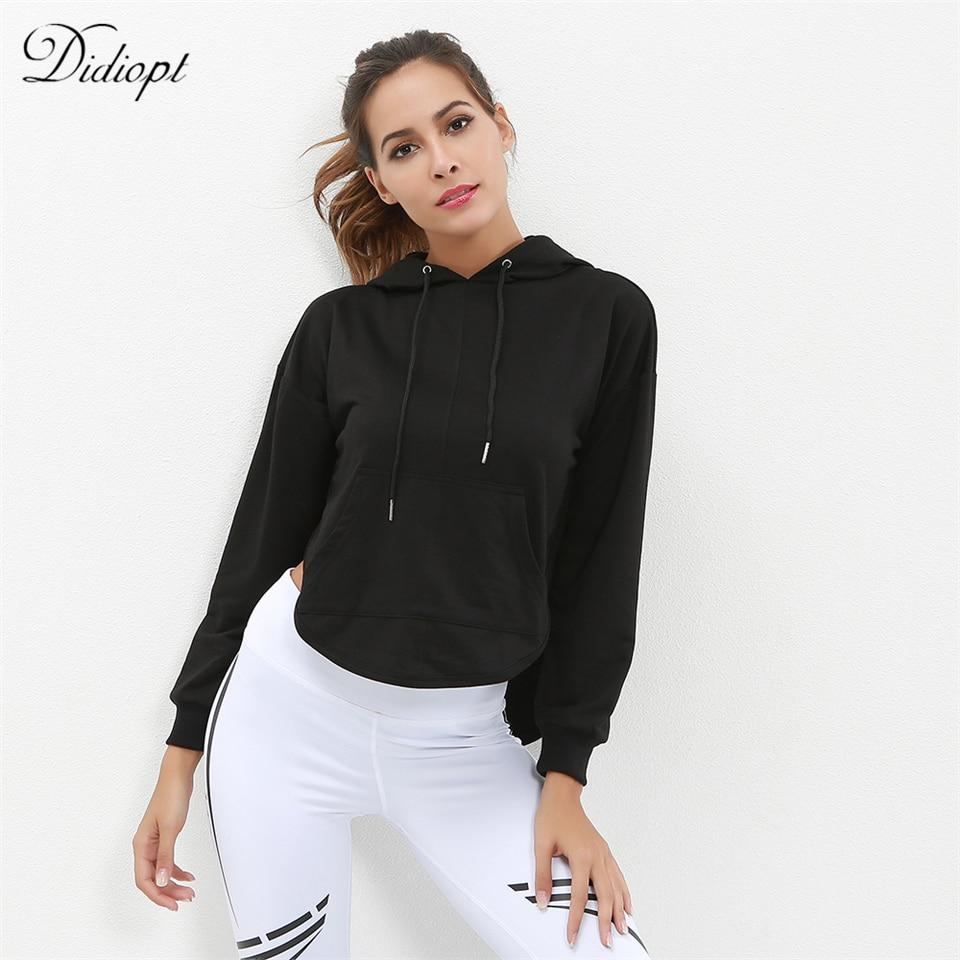 Sportbekleidung Didiopt 2018 Neue Modell Fit Beste Schwarze Frauen Sweatshirt Sexy Mit Kapuze Pullover Kostenloser Versand T2625e NüTzlich FüR äTherisches Medulla