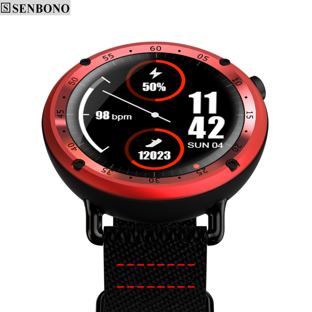 SENBONO L19 GPS Sport smart watch support fitness tracker Compass Height heart rate IP67 waterproof SMS Pushing 1