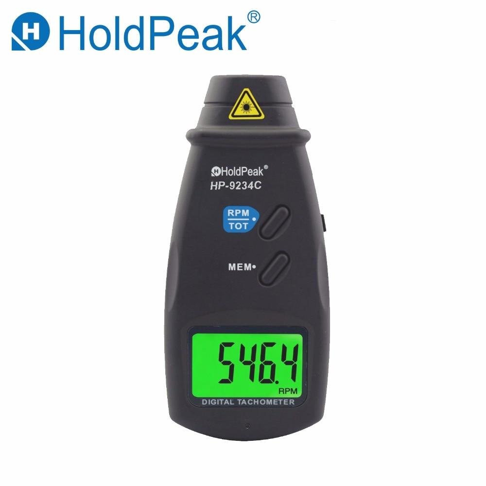 HoldPeak Laser Tachometer HP-9234C Speed Meter Digital Diagnostic-tool Photo LCD RPM Meter Engine Motor Non-contact Tachometer