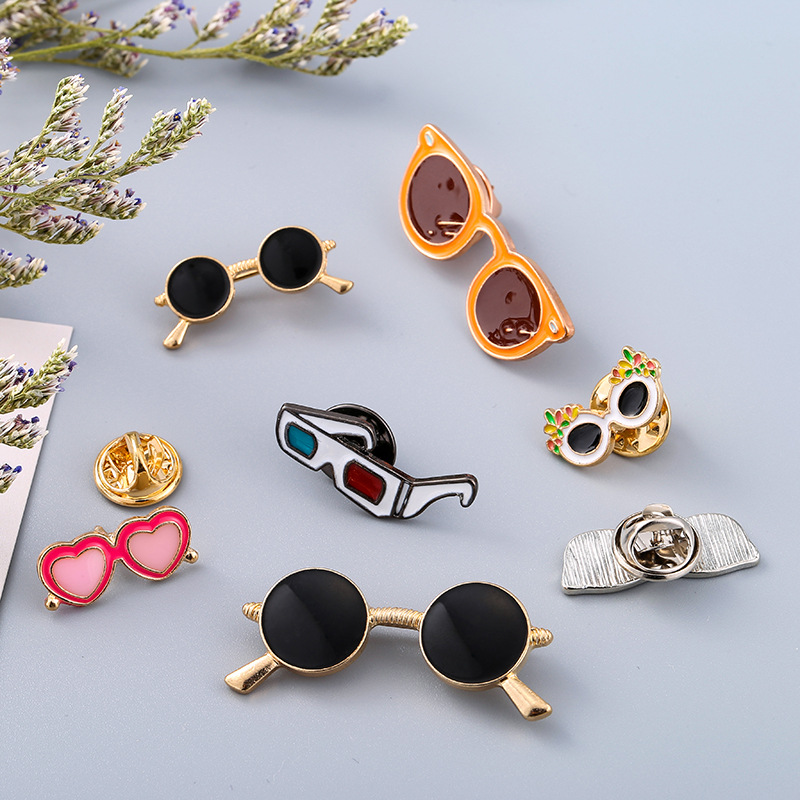 Retro Cool Sunglasses Pins And Brooches Pin Badges Hat