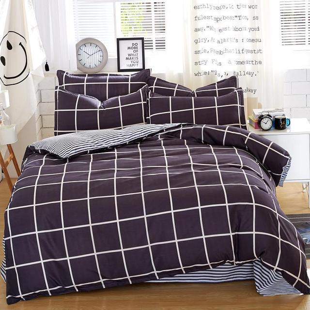 Autumn Dark-color Flower Series  Bed Linens 4pcs Bedding Sets Bed Set Duvet Cover Bed Sheet Mans Cover Set