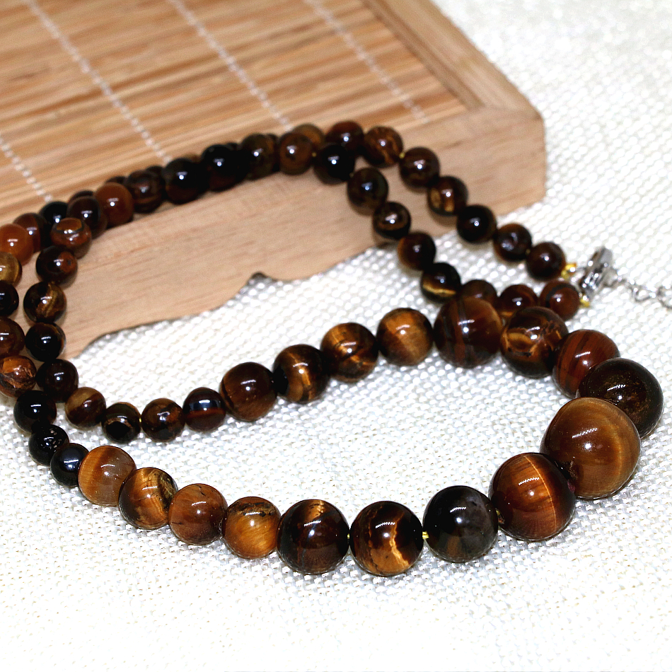 d1e616f44 ᗛCharming Tiger's Eye round beads 6-14mm natural stone fashion ...