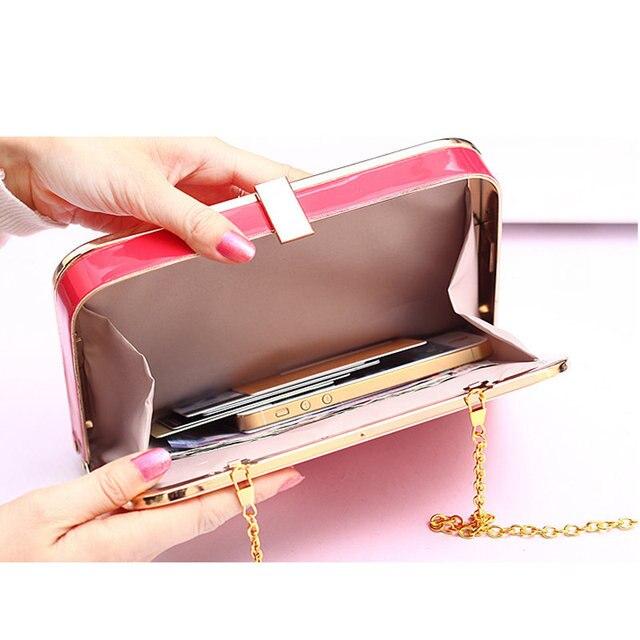 LYKANEFU Candy Color Bags Women Clutch Bags Ladies Day Clutches Party Evening Handbags Chain Box Bolsas Femininas Dollar Price