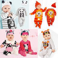 2016 newborn baby boy girl clothes cute animal rompers one pieces with hat baby unisex romper Infant Long Sleeve Jumpsuits