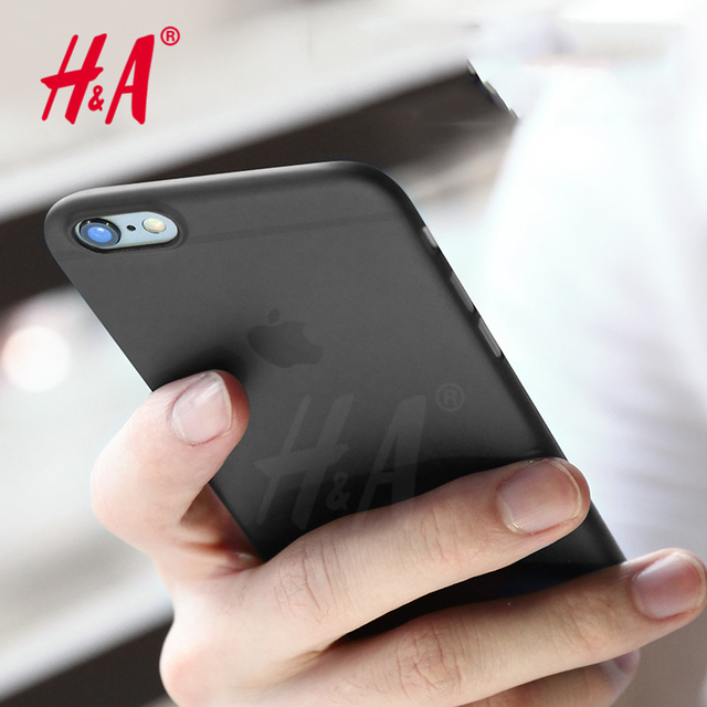 H&A Ultra Thin Matte Transparent Phone Cases For iPhone 7 Cover Case For iphone 6 6s Cases Red 0.3mm Phone Bag Capa
