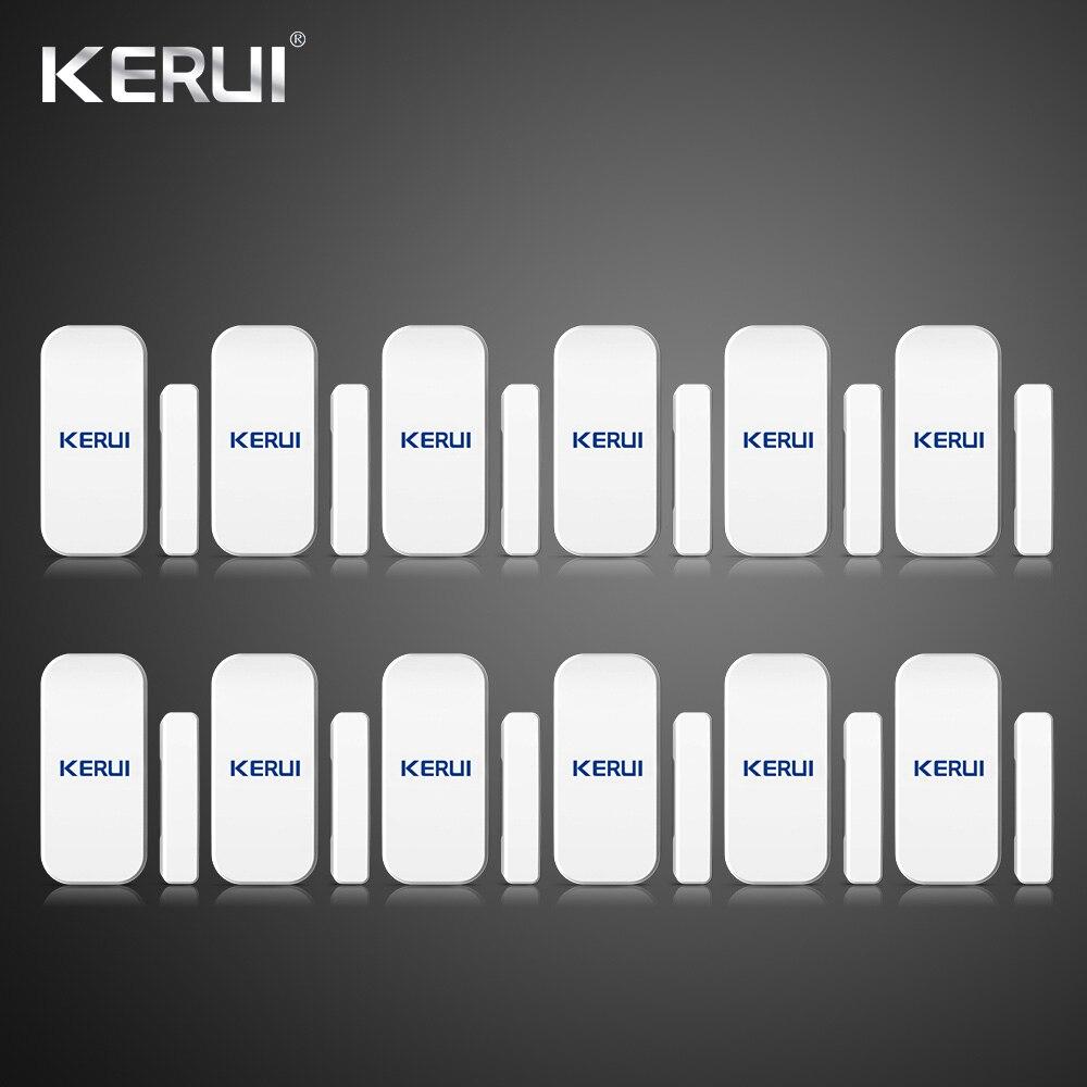 En gros 12 pièces Kerui D025 maison sans fil porte fenêtre détecteur Gap capteur pour maison système d'alarme tactile clavier batterie incluse