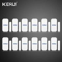 Hurtownie 12 SZTUK Kerui Extra Domu Bezprzewodowy Drzwi Okno Luka Detektor Czujnik Do Systemu Alarmowego w Domu Dotykowy Klawiatura Bateria Wliczony