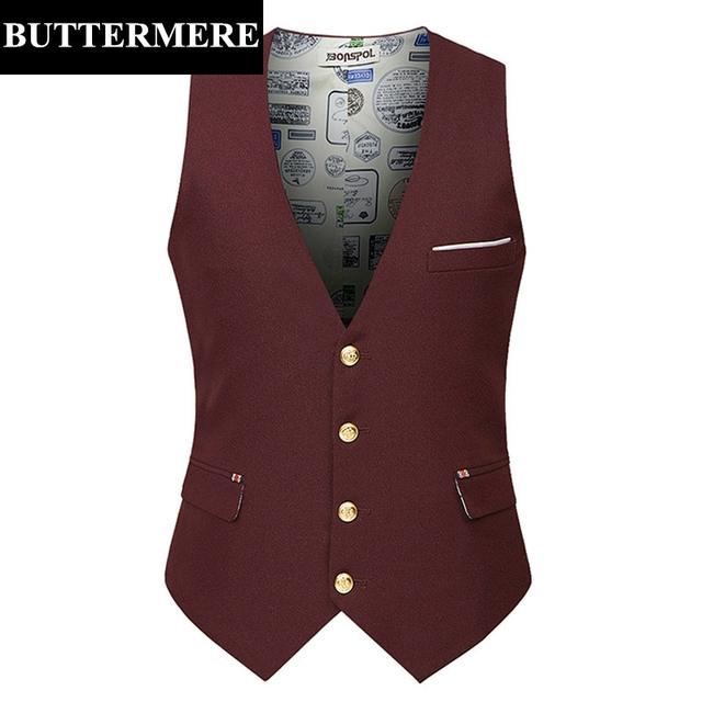 Casual Mens Suit Vest Slim Fit Black Burgundy Navy Blue Dress Waistcoat For Man Sleeveless Blazer High Quality Male Clothing