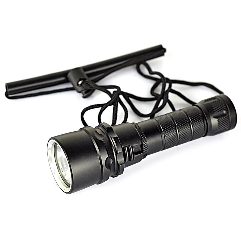 NFLC-New XML XM-L L2 LED Lanterna 1000 Lumens Diving Flashlight Torch Waterproof Underwater Torch LED Light (by 1* 18650 batte