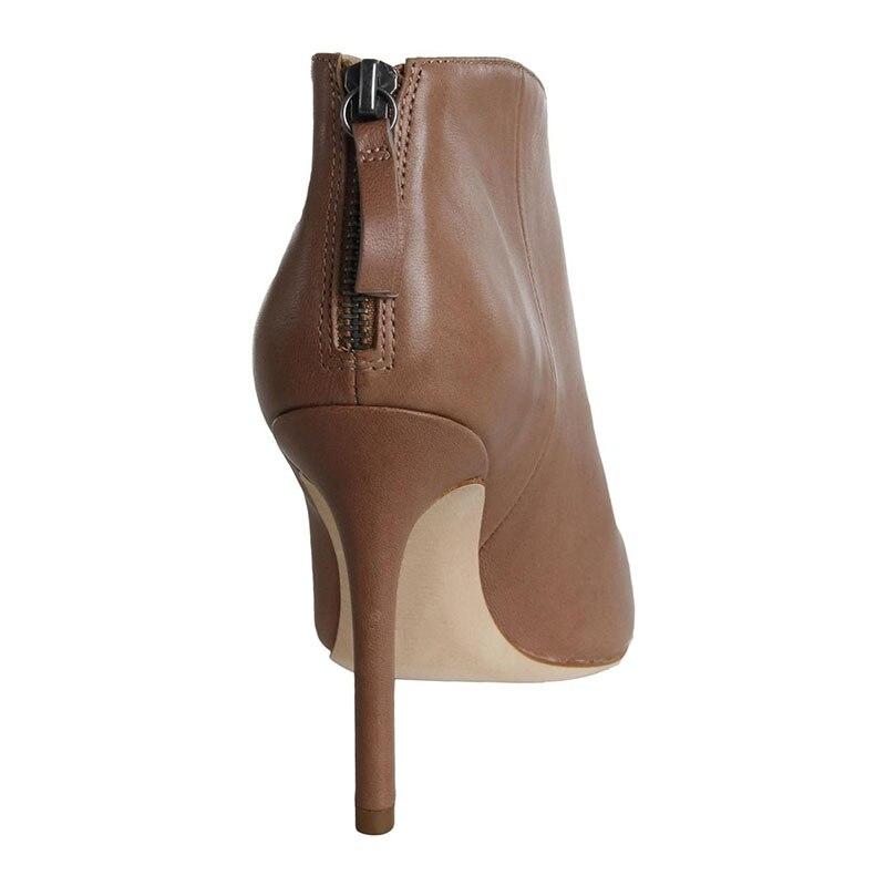 Haute Concis Mature Cheville Talons Sexy 2019 Pointu Adultes Dames Chaussures automne Mince Bottes Bout Zipper Femmes Mode Ty01 Super Printemps cA45Lq3Rj