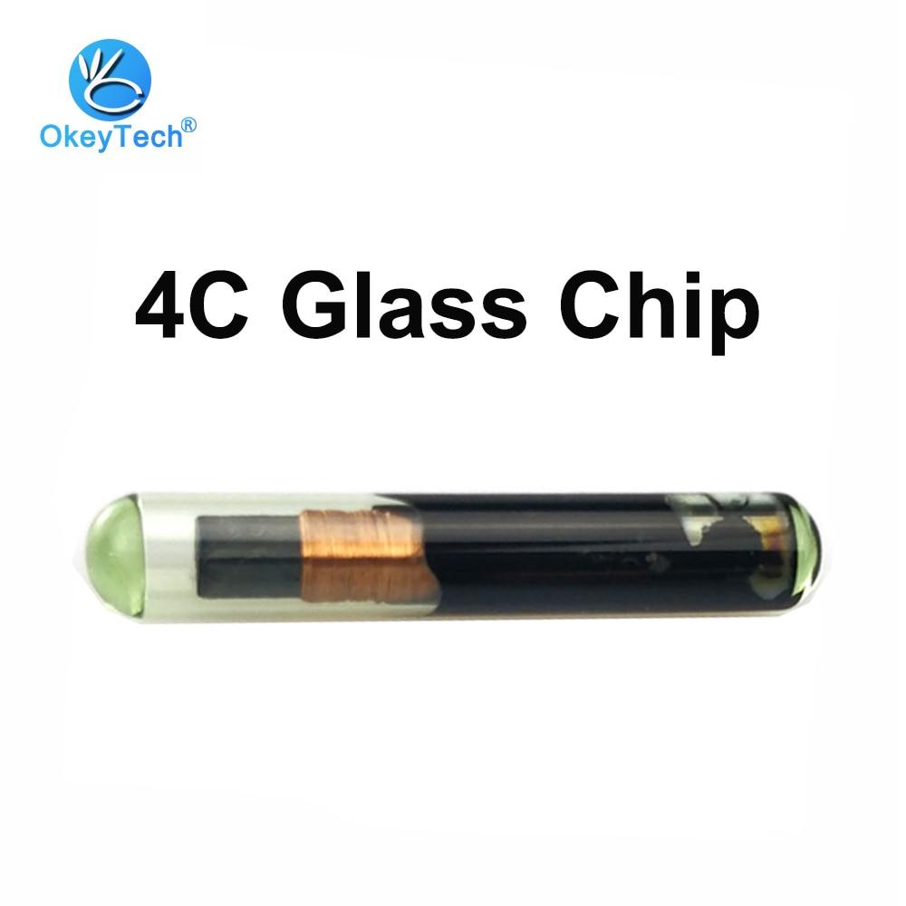 OkeyTech ID 4C Chip Glass Blank Transponder Car Remote Key Programmer Chip ID4C Tube For Toyota Camry Prado Corolla Ford Lexus