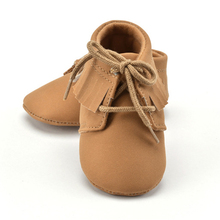 PU Suede Leather Shoes Newborn Baby Boy Girl Baby Moccasins Soft Moccs Shoes Bebe Fringe Soft Sole Non-slip Footwear Crib Shoe
