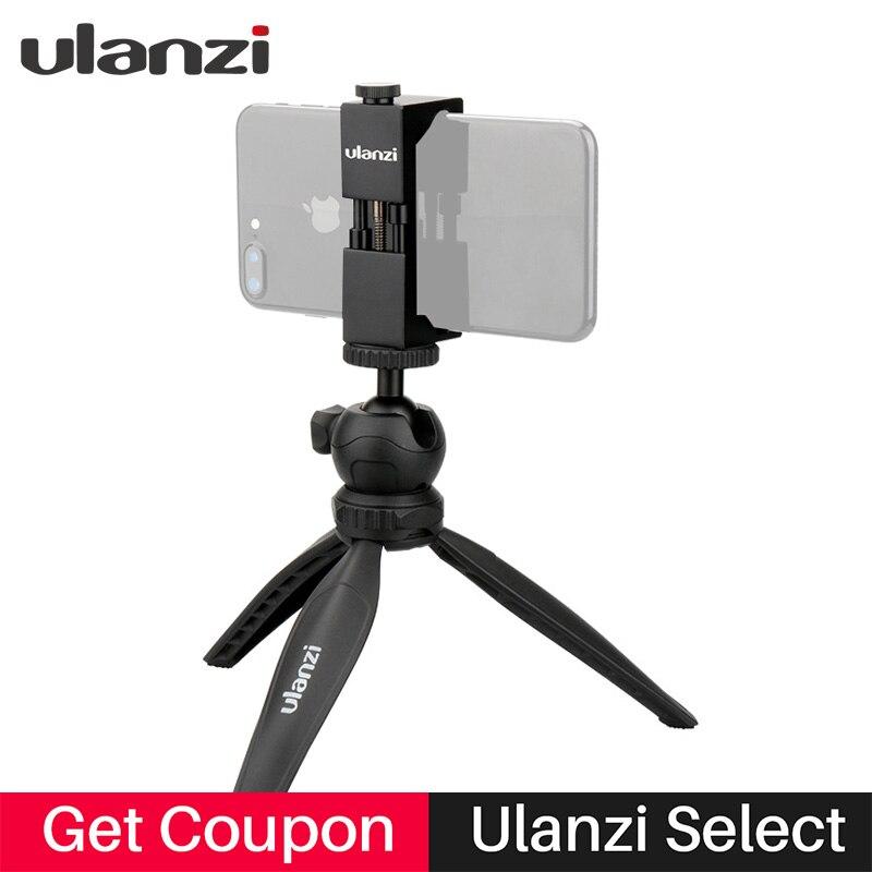 Ulanzi Mini Phone Tripod with removable ball head for iPhone 7plus 6 mobile phone for Nikon