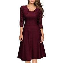 2017 New Summer Women Retro Dress Audery Vintage Elegant 1950S 60S half Sleeve A-Line Party Dresses