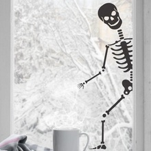 Halloween Wall Sticker. Bones Party Decor  Window Sticker christmas party decoration home living room WSJ19