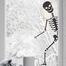 עצמות אימה פנטזיה Windows עיצוב הבית ליל כל הקדושים מסיבת חג ויניל קיר מדבקות בר בידור אמנות דקו קיר WSJ19
