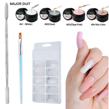 4pcs/set Poly Gel Nails gel poly Builder Kit Extension Acrylic Nail Art Crystal UV Resin Gellak
