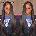 Peruvian Virgin Hair 4 Bundles With Lace Closure 10A Grade Straight Virgin Hair Bundle Deals Peruvian Straight Hair With Closure