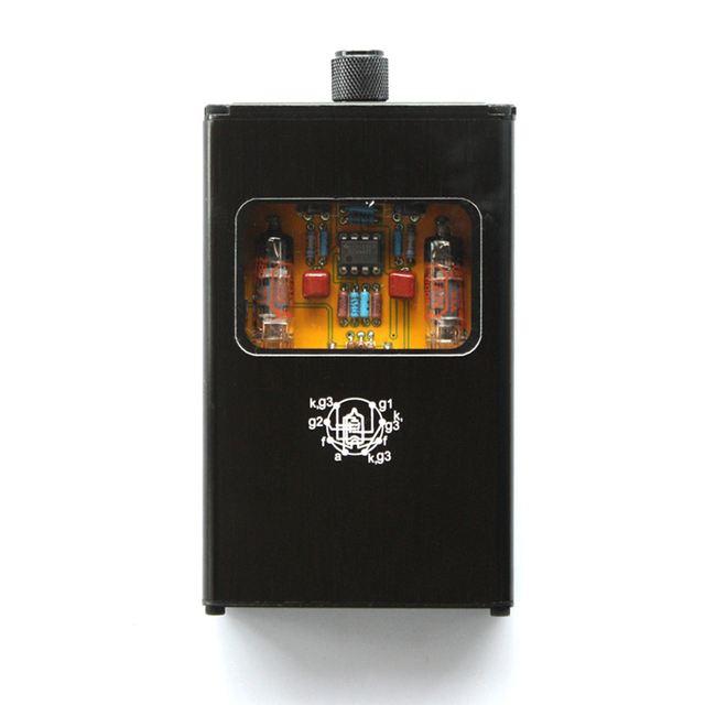 Powerful Portable Dual Electron Tube Headphone Amplifier Mini AMP Mobile Phone Music Headset amplifier