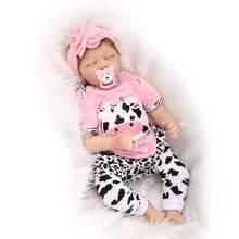 Npk 55cm bebes reborn boneca, realista, silicone macio, renascido, bonecas do bebê, brinquedos para meninas, presente de aniversário, moda, bonecas do bebê