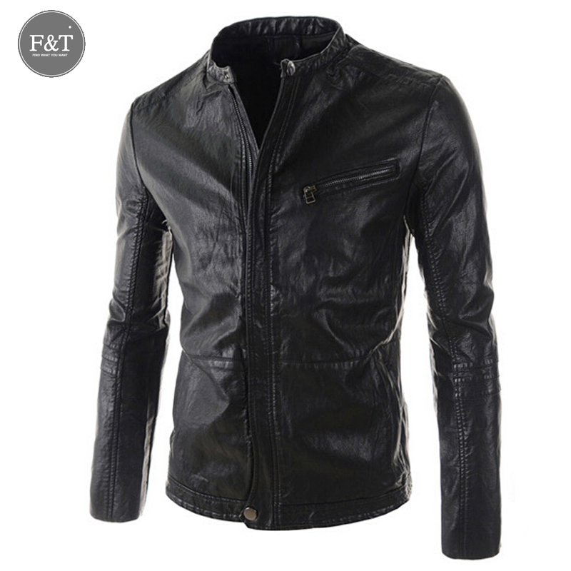 [Asian Size] New fashion Brand Leather Jacket Men Jaqueta Couro Masculino Bomber Leather Jacket Sheepskin Coat