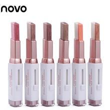 NOVO Double Color Stereo Gradient Velvet Eyeshadow Stick Shimmer Earth Color Eye