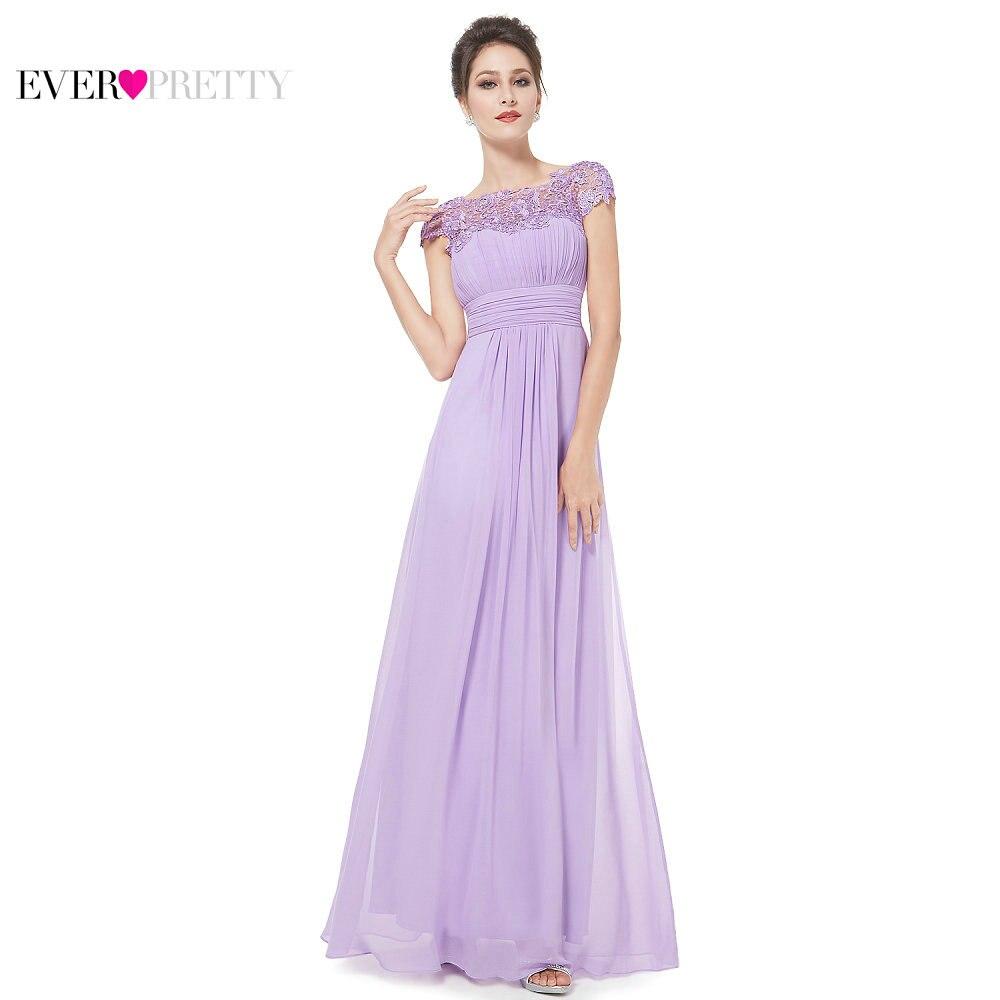 Ever-Pretty Women Elegant Wedding   Bridesmaid     Dresses   Sexy Lace Chiffon A Line Pleat Formal Party   Bridesmaid     Dress