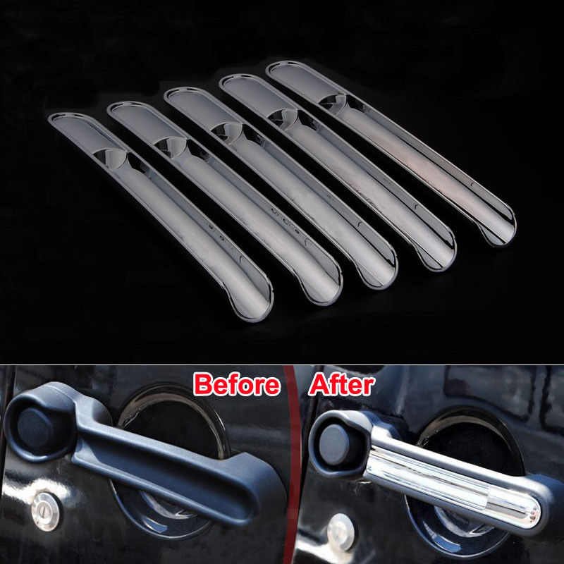 Bbq Fuka Car Chrome Outside Door Handle Trim Insert Cover Styling Sticker Set Fit For Jeep 4