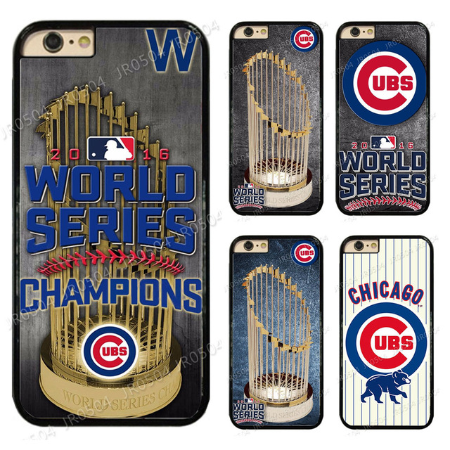 hot sale online 990a0 734a1 Chicago Cubs World Series Champions PC+TPU Edge Phone Case Cover For iphone  XS MAX XR X 5 5s SE 6 6s 6 plus 6s plus 7 8 plus-in Half-wrapped Case from  ...