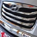 Para Hyundai Santa Fe 2010 2011 2012 ABS Cromo Styling Centro delantero de la Parrilla Grill Montaje Alrededor Auto Sticker Modelo de Ajuste 4 unids