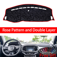 Rose Pattern For MG MG3 3SW 2017 Dashboard Cover Car Stickers Car Decoration Car Accessories Interior Car Decals