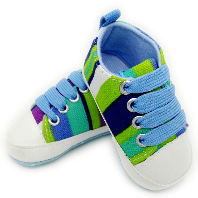 Toddler Infant Baby Boy Shoes Laces Casual Sneaker Toddler Baby Shoes  Stripe Sneaker Anti-slip 1e8c43785710