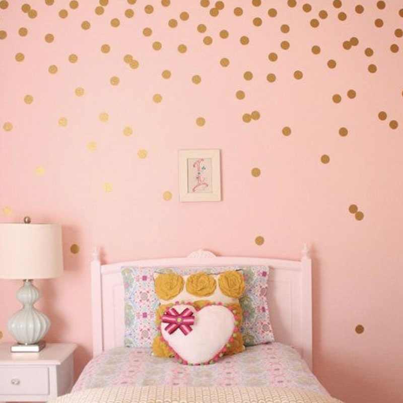 الذهب الفضة الأسود منقطة الجدار ملصق الطفل الحضانة ملصقات الاطفال الذهبي منقطة الشارات المنزل DIY بها بنفسك الفينيل جدار الفن