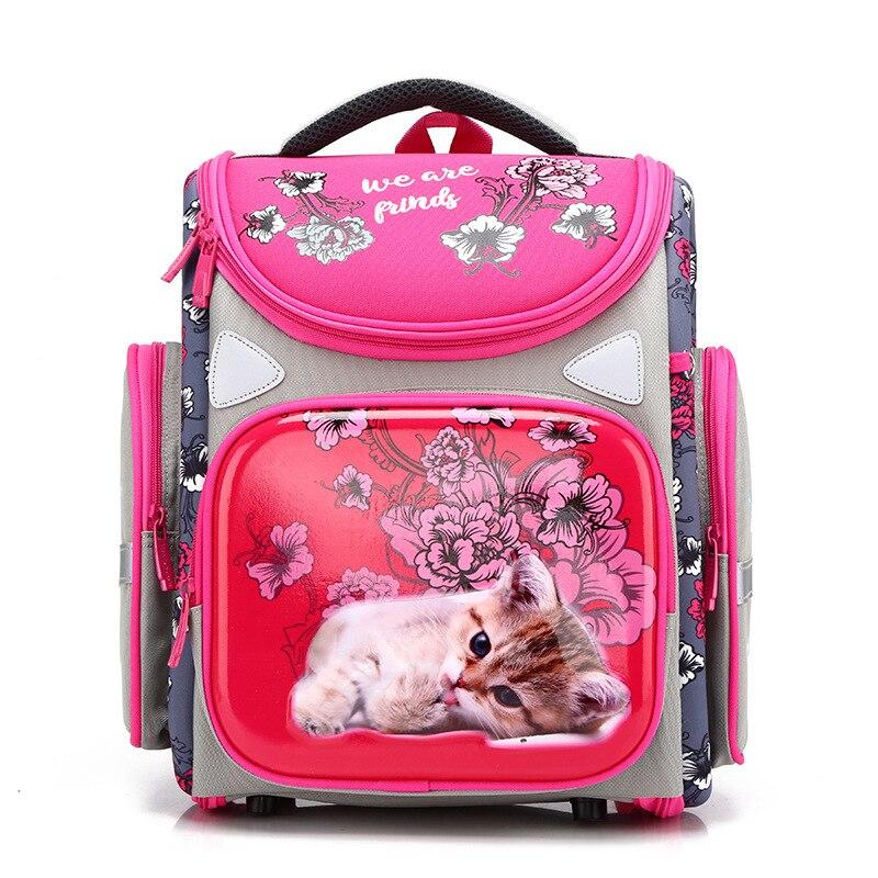 Image 2 - Girls Boys Cat Schoolbags Waterproof Breathable Kids 3D Cartoon  School Bags Children Orthopedic School Backpacks Mochila EscolarSchool  Bags