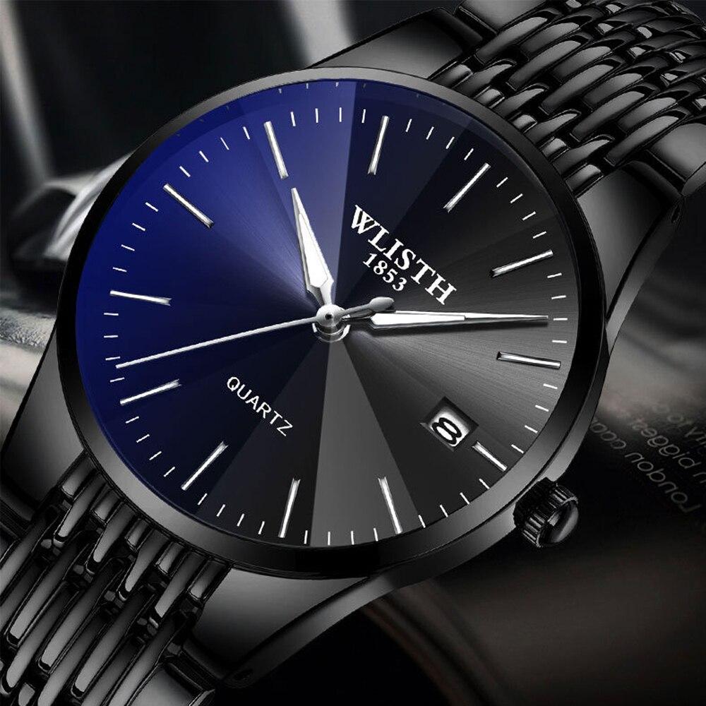 Relogio Masculino Quartz Wristwatch For Lovers Hour Luxury Men Watch Steel Waterproof Casual Business Men Hodinky Couple Watch