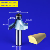 1pcs Round Over Router Bits In Miling Cutter For Wood 2 Flute Endmill With Bearing Milling