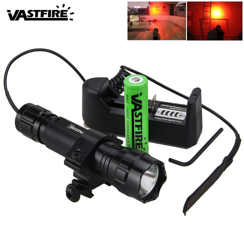 5000lm XM-L Q5 T6 Led Waffe Gun Licht Weiß Taktische jagd Taschenlampe + Zielfernrohr Airsoft Montieren + Fernbedienung Schalter + 18650 + ladegerät
